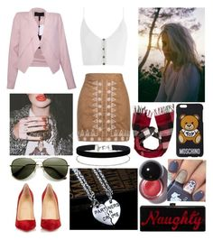"""""""#858"""" by splendoraviolet ❤ liked on Polyvore featuring Christian Louboutin, Burberry, WithChic, Zimmermann, BCBGMAXAZRIA, Edie Parker, Moschino and Miss Selfridge"""