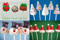 Cake Pop Tips – How To Make Cake Pops, Brownie Pops and Cake Balls! Christmas Present Cake, Christmas Themed Cake, Christmas Cake Pops, Christmas Deserts, Christmas Treats, Christmas Time, Cupcakes, Cupcake Cakes, Brownie Pops