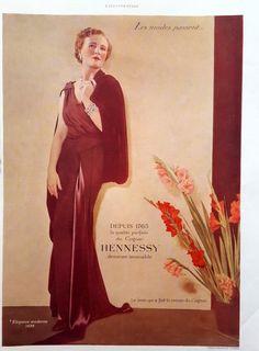 Cognac Hennessy color ad vintage advertising elegant by OldMag