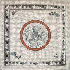 aquatic mosaic in pompeii.