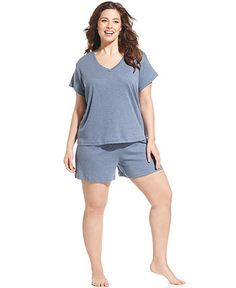 Jockey® Plus Size Sleep Tee & Boxer - Plus Size Pajamas & Robes - Plus Sizes - Macy's