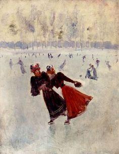 Jean Béraud Women Skating