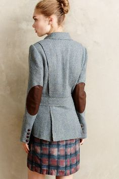Limited-Edition Harris Tweed Blazer - anthropologie.com #anthrofave - who doesn't love elbow patches