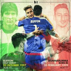 "Bleacher Report UK sur Twitter : ""Italian football history—Gianluigi Donnarumma replaces Gigi Buffon to become youngest ever #Azzurri goalkeeper 🇮🇹🙌 https://t.co/SdBUujWjeS"""