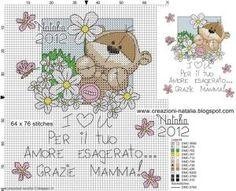 """Cross-stitch Fizzy Moon """"I Cross Stitch Quotes, Cross Stitch Pictures, Cross Stitch Cards, Cross Stitching, Cross Stitch Embroidery, Cross Stitch For Kids, Just Cross Stitch, Cross Stitch Heart, Cross Stitch Animals"""
