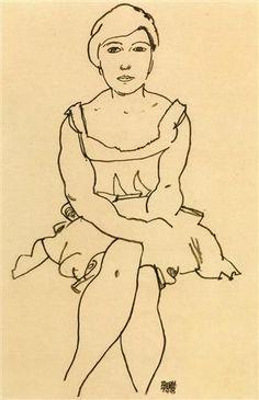 Egon Schiele (1890-1918, Austria) | Sitting Woman