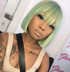 Cute hairstyles wigs for black women lace front wigs human hair wigs african american wigs the same as the hairstyles in picture buy now Weave Hairstyles, Pretty Hairstyles, Straight Hairstyles, Curly Hair Styles, Natural Hair Styles, Hair Laid, Green Hair, Dyed Hair, Hair Inspiration