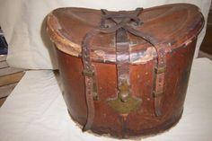 Antique Leather Hat Box