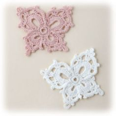 crochet Butterfly applique pattern for pillow