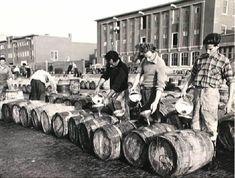 Haven van Scheveningen Op pekelen 1956