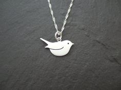 Sterling silver Robin by AnnaAncellJewellery on Etsy