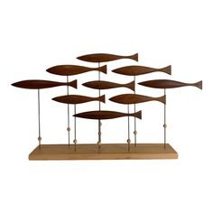 Laying Roe Salmon Run Sculpture 9 Sea Sculpture, Metal Art Sculpture, Fish Wall Art, Fish Art, Handmade Furniture, Modern Furniture, Mirror Crafts, Ganesha Painting, Wooden Fish