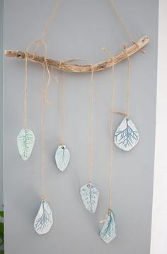 These earthy botanical print chimes add a touch of whimsy to your outdoor space but can also double as wall art.
