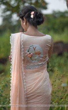 Latest Blouse Design by illustrator CC Part 1 Saree Blouse Neck Designs, Saree Blouse Patterns, Churidar, Anarkali, Lehenga, Bollywood, Stylish Blouse Design, Stylish Sarees, Satin