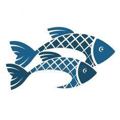 İki balık siluet — Stok İllüstrasyon #123951564