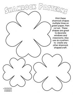 printable pattern for shamrock bow Paper Flower Patterns, Paper Flowers Craft, Large Paper Flowers, Paper Flower Backdrop, Felt Flowers, Flower Crafts, Fabric Flowers, Shape Crafts, Flower Template