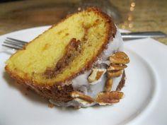 Sock-It-To-Me Cake w/homemade glaze. recipe below: http://www.duncanhines.com/recipes/cakes/Duncan%20Hines%C2%AE/sock-it-to-me-cake/