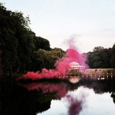 noor fares wedding. gondola rides on the lake filled with swans and hot pink smoke!