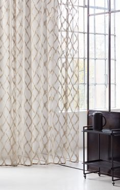 """Création Baumann presents the """"Cotton & Stories"""" Collection Curtain Fabric, Print Design, Cotton Fabric, Creations, Presents, Interior, Pattern, Gold, Furniture"""