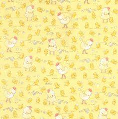 "44"", 100% Cotton, Cotton Tale Farm, Chicks on Yellow Background (L-10) (10-30-17)"