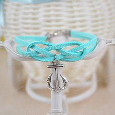 Mint Bracelet Anchor Bracelet Monogram Bracelet Anchor by Ucoolka, $3.99