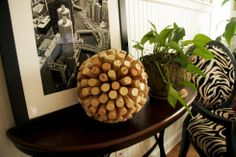DIY Recycled Cork Ball