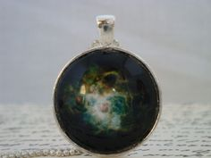 Green universe glass pendant