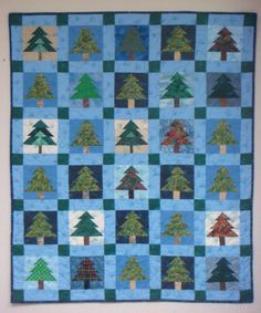 Detail - Pine Tree Quilt by Peggy Nagle, Elora, Ontario | Quilts ... : pine tree quilt - Adamdwight.com