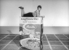 Frame Mina su confezione Pasta 1967