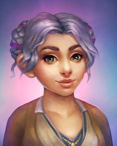 Gnome Portrait by Sammy Hancock World Of Warcraft Characters, Iconic Characters, Dnd Characters, Fantasy Characters, Female Characters, Fantasy Character Design, Character Inspiration, Character Art, Character Ideas