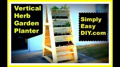 DIY Vertical Herb Garden Planter Box There are hardly any amateur gardeners a. DIY Vertical Herb G Raised Herb Garden, Vertical Herb Gardens, Herb Garden Planter, Herb Garden Pallet, Diy Planter Box, Herb Garden Design, Diy Herb Garden, Vertical Planter, Herb Planters
