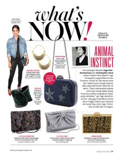 Inge Christopher's jewelry and clutch handbags just got a full-page feature in the June 2014 issue of #InStyle Indonesia!
