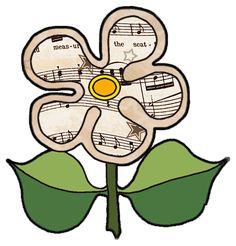 printable art by jean gift box | #03 - Flower prints ... Vintage Sheet Music Decoupage Clipart Print ...
