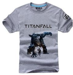 HOT High quality Personalized T-shirts Anime Game Products Titanfall T-shirt XBOXONE Free Shipping