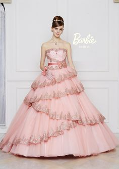 It fits Sis! Oh wow I guess this means I will go to the prom. Indian Wedding Gowns, Pink Wedding Dresses, Bridal Gowns, Barbie Gowns, Barbie Dress, Elegant Dresses, Pretty Dresses, Barbie Bridal, Fantasy Gowns