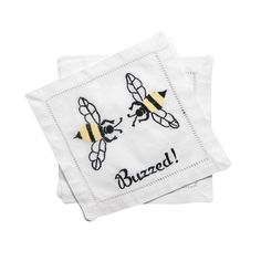 Buzzed Cocktail Napkins, Set/4 in Gift Box by August Morgan