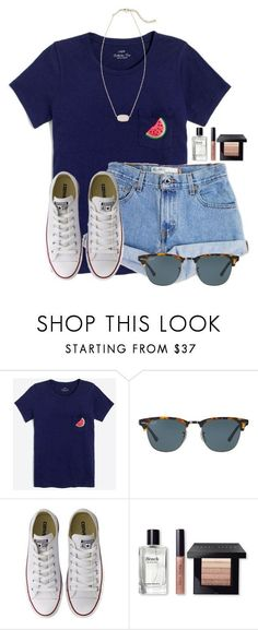 """Watermelon "" by flroasburn on Polyvore featuring J.Crew, Levi's, Ray-Ban, Converse, Bobbi Brown Cosmetics and Kendra Scott"