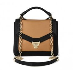 Lisette Bag in Black and Cognac