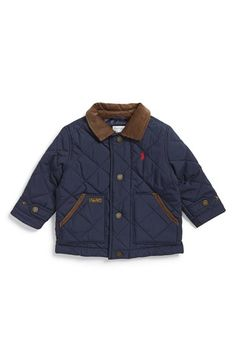 Ralph Lauren 'New Hagan' Diamond Quilted Jacket (Baby Boys) available at #Nordstrom