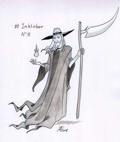 Inktober 05/10/2015 by Théo Adamec  #ankou