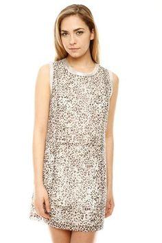 Shimmer Animal Print Dress