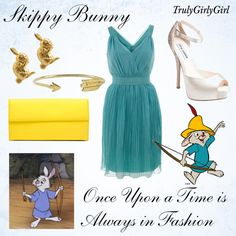 Disney Style: Skippy Bunny, created by trulygirlygirl on Polyvore