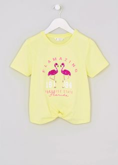 Girls Candy Couture Sequin Flamingo Slogan T-Shirt (9-16yrs)