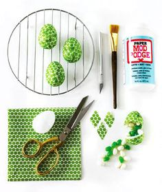 This gives me so many ideas... >>You could do these in coordinating patterns for decoration, to put in a bowl, etc.