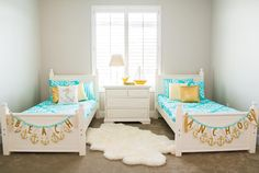 I love this beach inspired room featuring  @beddysbeds new Spring line! They added some of our Sequin & Polka Dot Pillows to their cute Anchor Pillow. They also added some of our new Beach Themed Banners at the end of the beds. After having the flu and being flat in bed since Friday night  I am wondering if I would get better faster if my bedding looked like this?   #nofluatthebeach #welovebeddysbeds #pearlandjane #sspromo315 by pearlandjane