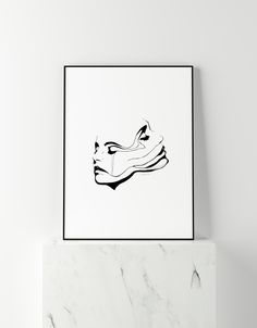 """Our artwork """"TWO FACED"""", available in our store at spoerling.com! Two Faces, Poster Making, Tissue Paper, Artwork Prints, Giclee Print, Posters, Hand Painted, Store, Artist"""