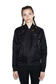 new concept 336df 03496 Fred Perry - Short Unlined Bomber Jacket Black Tennis, Nostalgia, Ropa  Vieja, Vaatteet