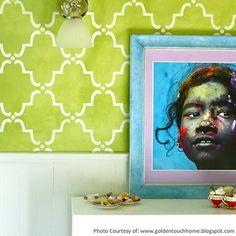 Wall Stencil | Large Moorish Trellis Stencil | Royal Design Studio $44