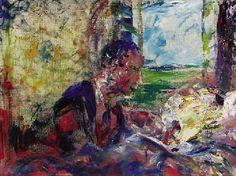 jack butler yeats - The Sick Bed Jack B, William Butler Yeats, Samuel Beckett, Irish Culture, Irish Art, Folklore, Contemporary Artists, Sick, Brother
