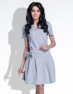 Sukienka kokardka grey